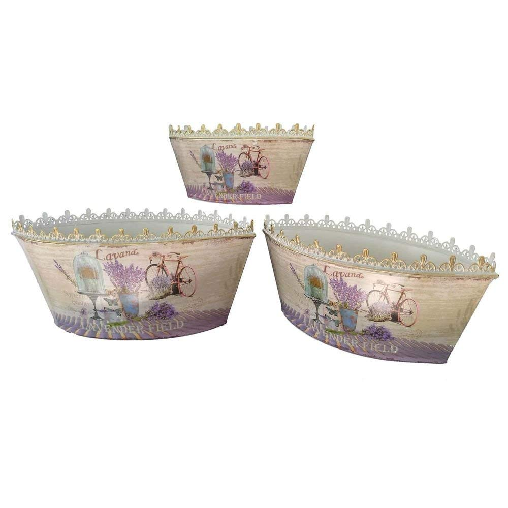 Bedding Dropship French country planters vintage metal decorative flower pots