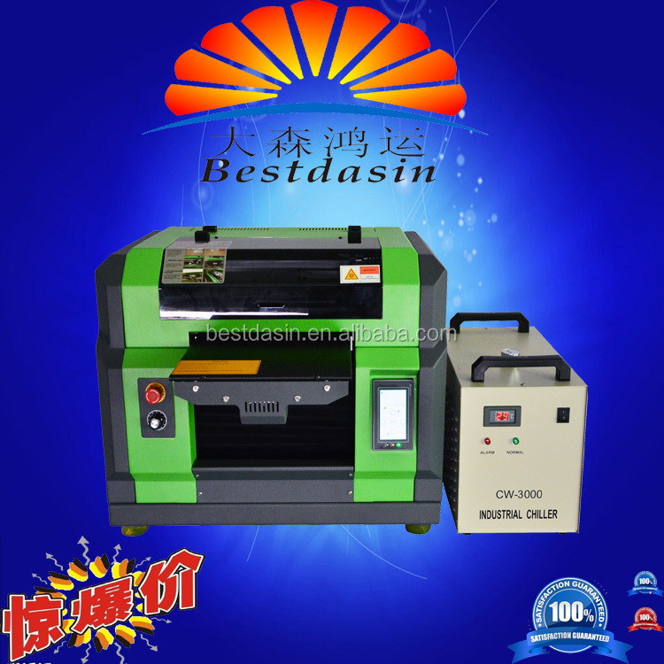 A3 UV 3358 uv curing printer, wall paper printing machine, R2000 dx5 PRINTHEAD pen printer