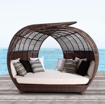 Divano Letto Rattan.Vimini All Aperto Rattan Spiaggia Divano Letto Con Baldacchino Doppio Buy Spiaggia Day Bed Sole Bed Lounger Letto Product On Alibaba Com