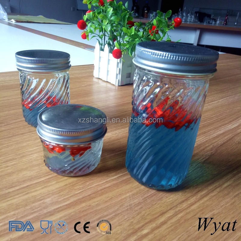 Cheap Embossed Glass Jars for Food Storage