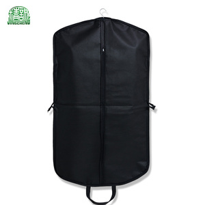 Factory wholesale non woven folding mens clothes cover garment suit bag with handles