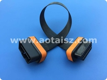 NEW VERSION AOT 16pin OBD flat ribbon male to female cable