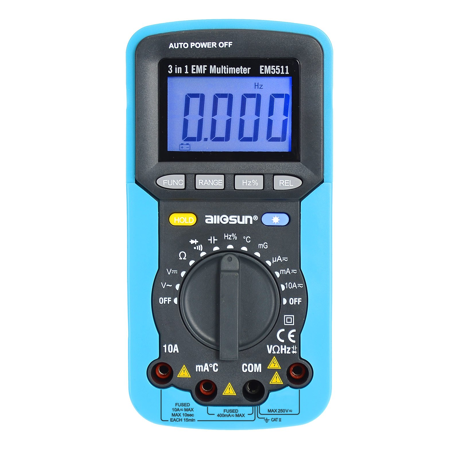 all-sun 3 in 1 EMF Digital Multimeter Antorange Electromagnetic Field Radiation Tester DC AC Volt Ampt DMM