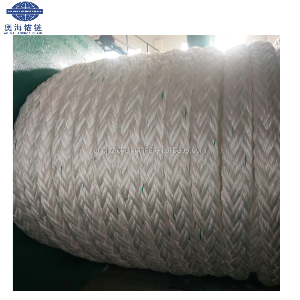 8 Stands High Strength Pp Or Uhmwpe Mooring Ropes For Ship with BV certificate