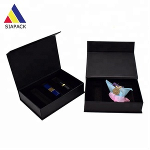 matte lipstick/cosmetic cardboard black packaging boxes with foam insert