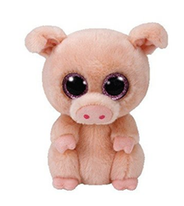 c9640005883 High quality soft stuffed cute ty beanie boo piggley plush toy pig with big  eyes