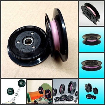 U pulley wheels with Japanese bearing , Wire cable pulley , V-belt ...