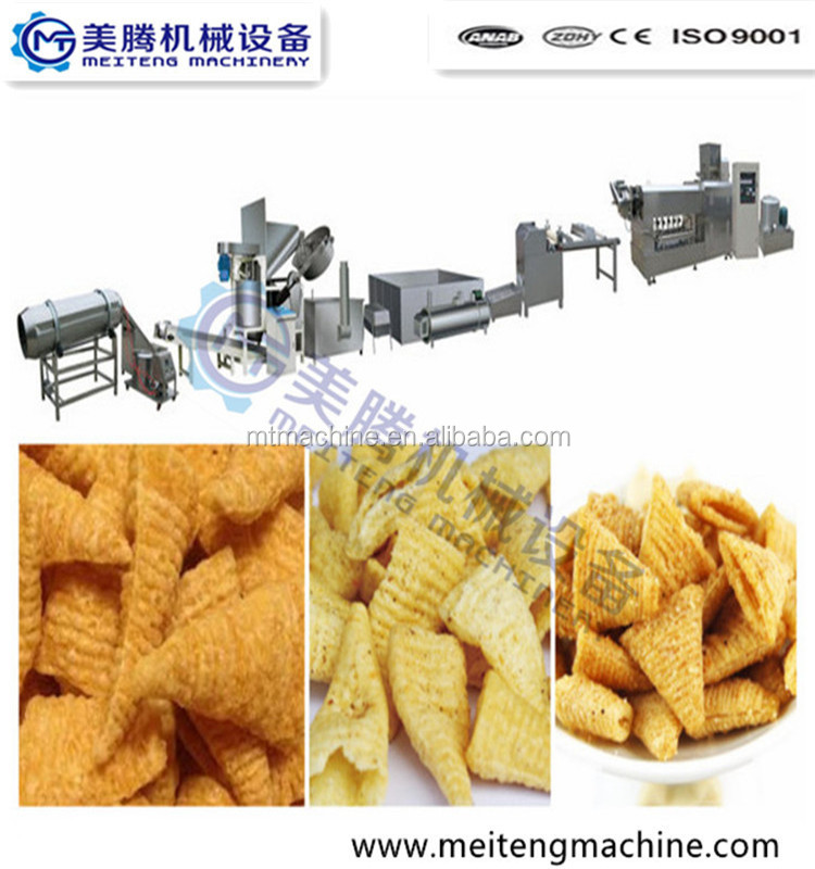 fried bugles chips processing line