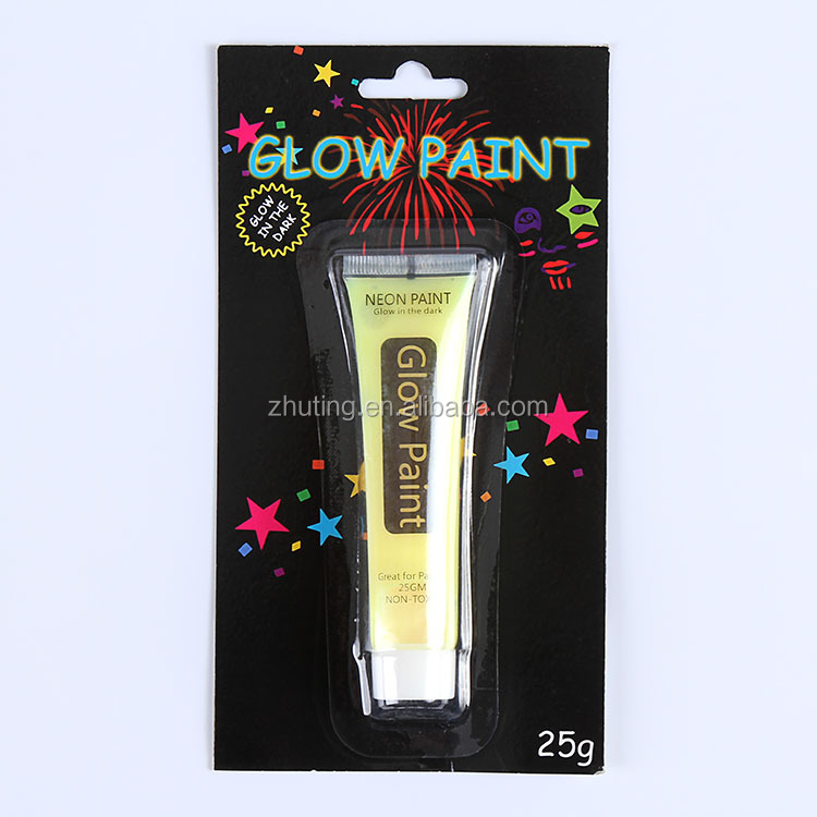 Hot Sell make up waterproof glow face paint set with EN71 face painting