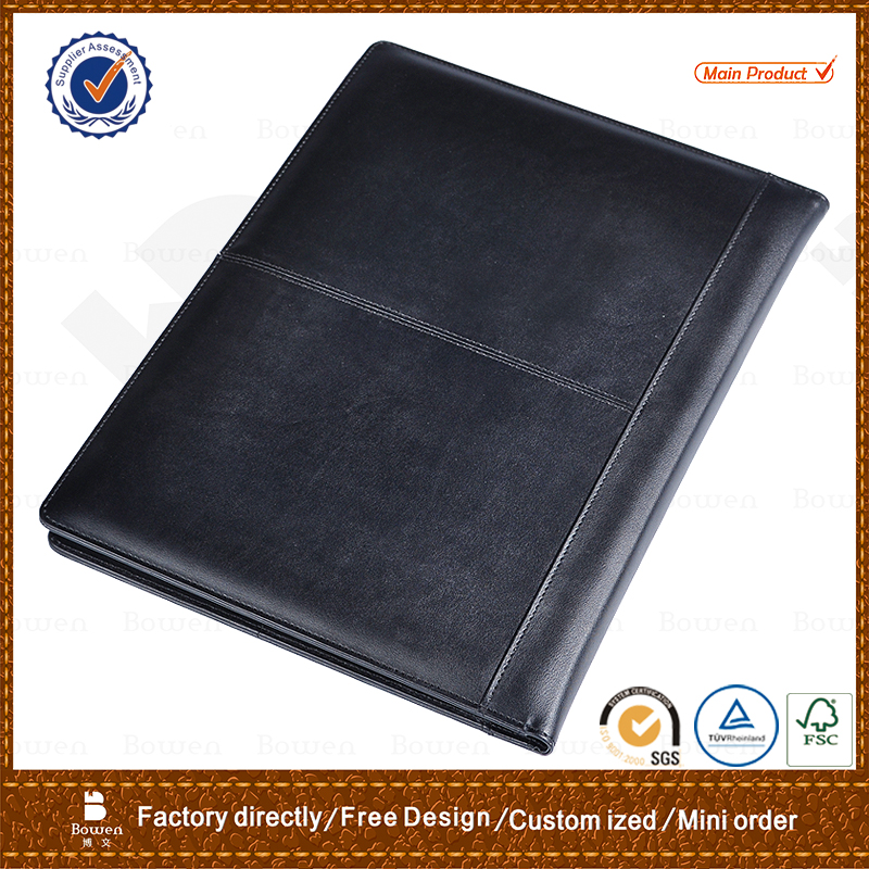 TYWEN - 0249 a3 folders with reasonable price / legal size pu leather file folders / cheap file folder with cd holders
