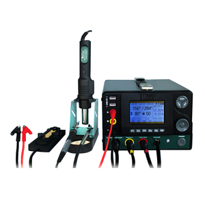 CXG 5 in1 hot air soldering rework station with dc power supply and desoldering platform picker up pen