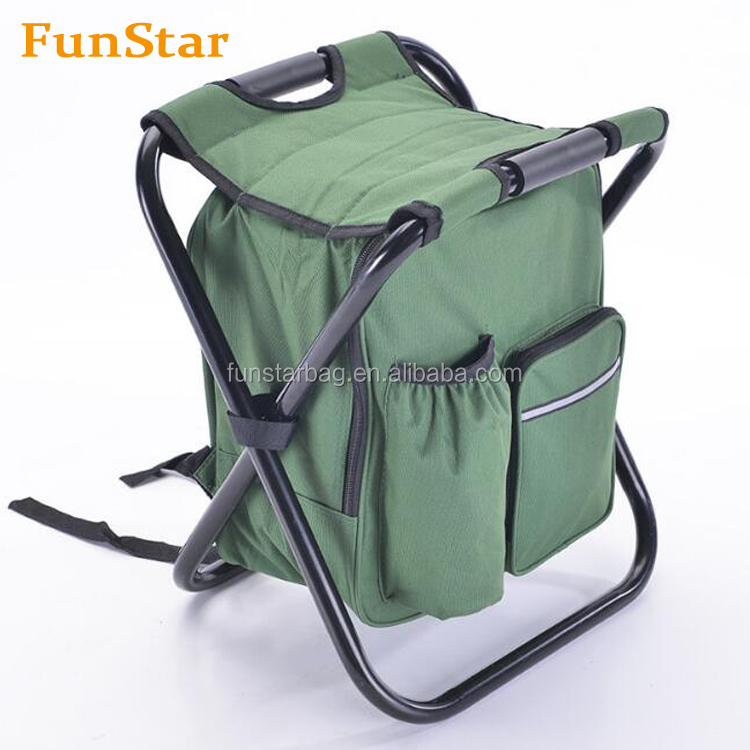 Multi-Function Camping Backpack Foldable Chair with Cooler Bag for Fishing Beach Camping and Outdoor Sports Seat