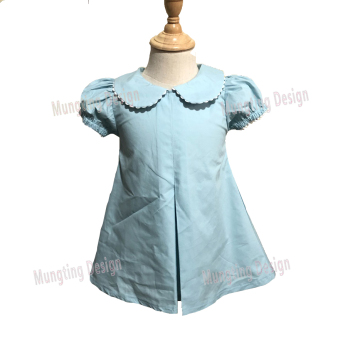 wholesale smocked bishop inspired perfect 100% cotton boutique kids summer clothes girl party dress