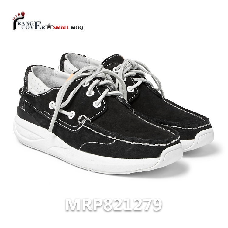 2018 Boat Sailing Leather Mens Shoes Driving Classic Shoes Suede Black ggCfq