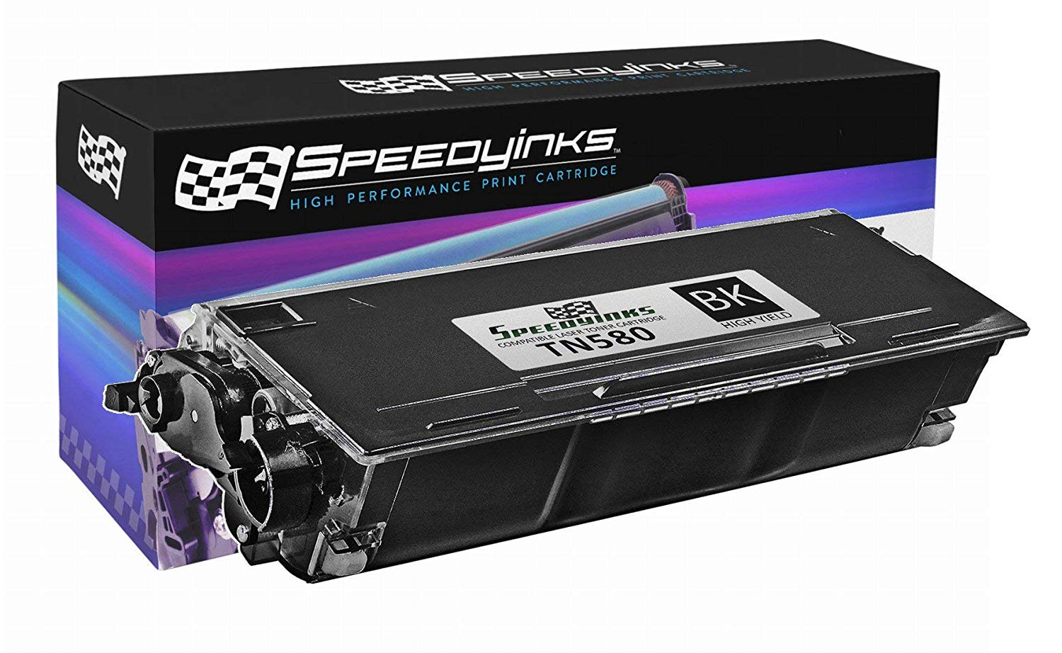 Speedy Inks - Compatible TN580 High Yield Black Laser Toner Cartridge for use in DCP-8060, DCP-8065, DCP-8065DN, HL-5200, HL-5240, HL-5240LT, HL-5250, HL-5250DN, HL-5250DNHY, HL-5250DNLT, HL-5250DNT, HL-5270DN, HL-5280, HL-5280DW, HL-5280DWLT, MFC-8460N, MFC-8470DN, MFC-8660DN, MFC-8670DN,