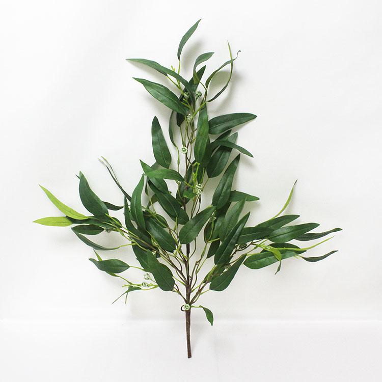 home decorations silk green plants decorative eucalyptus branch