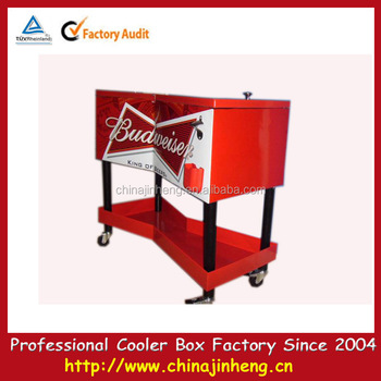 Beverage Cooler Cart,rolling Patio Cooler Cart,ice Cooler Cart