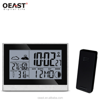Digital Radio Controlled Alarm Clock With Wireless Weather Station