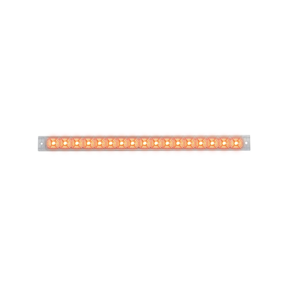 """Grand General 76983 Red 20"""" Single Row Spyder 17-LED Stop/Turn/Tail Sealed Light Bar with Clear Lens"""