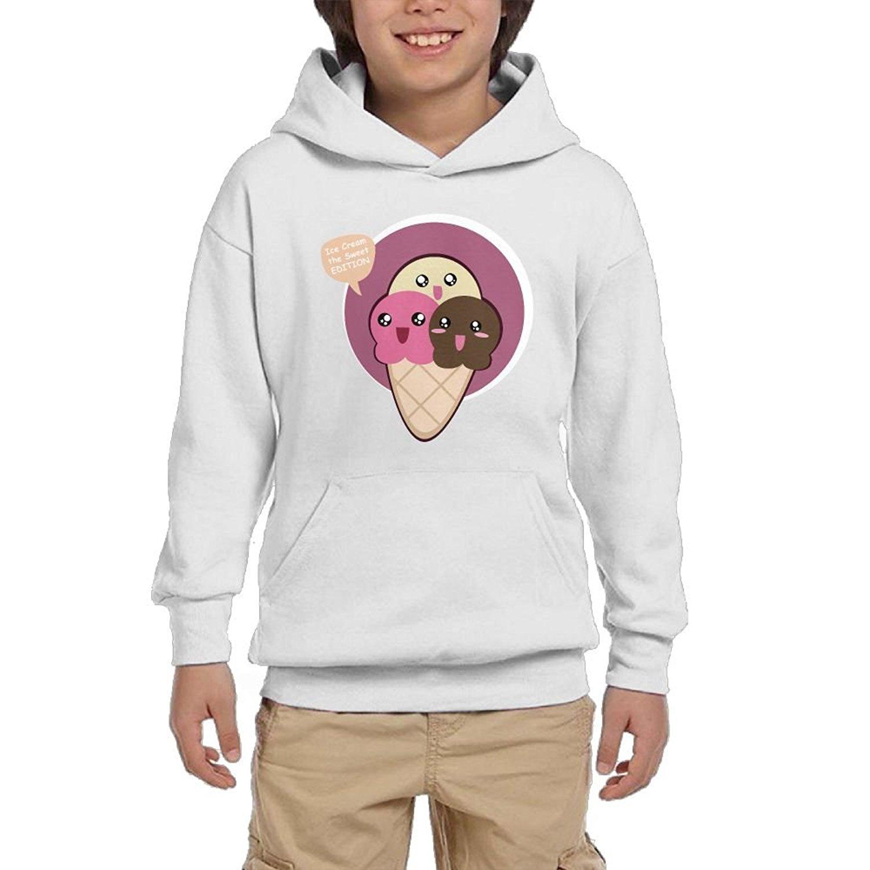 IF1 Hoodie Cute Ice Cream Cartoon Boy's Athletic With Pocket Hoodies Crew Neck Pullover Sweatshirt