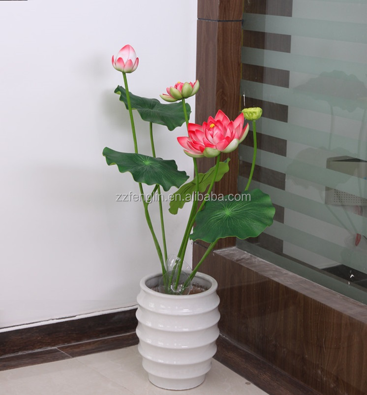 how to make artificial lotus flower