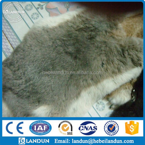 Factory direct supply 100% raw frozen rabbit skins dyed/genuine rabbit skins raw rabbit fur