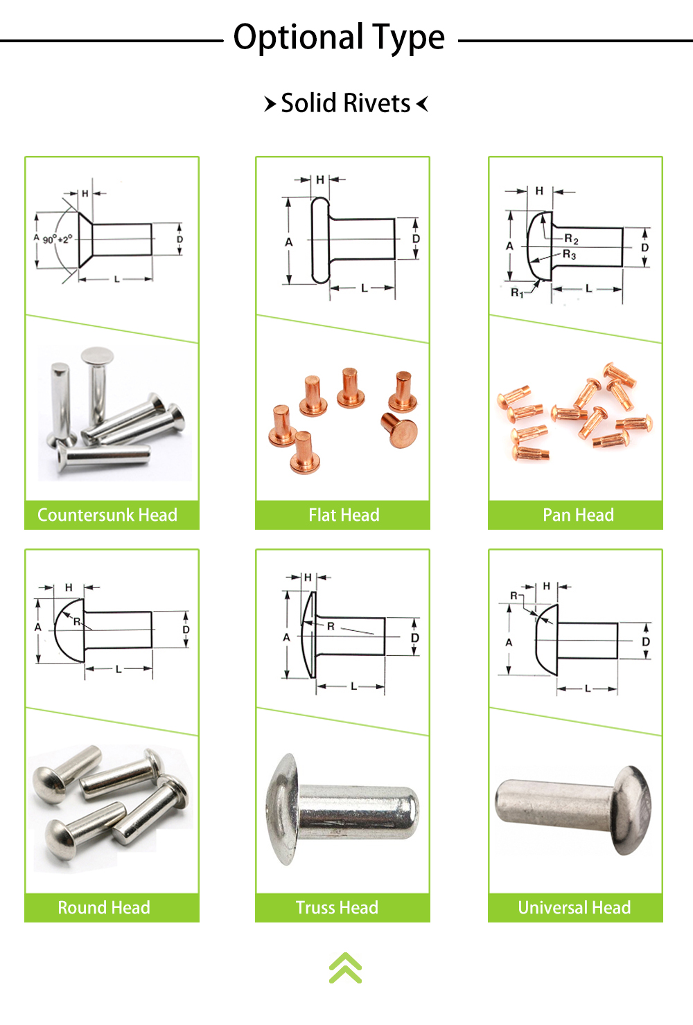Custom Cheap Steel Furniture Rivets Manufacturer, Miniature Semi Tubular Metal Rivet For Furniture