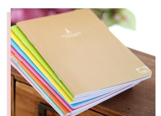 5 Pcs Lote Mignon Couleur Unie Cahier D 233 Colier Journal