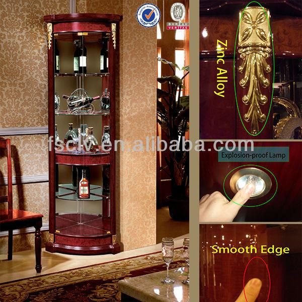 Decoratieve vintage woonkamer houten meubels hoek bar kast 828-a ...