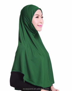 High quality collection design lycra ITY hijab simple design one piece hijab scarf