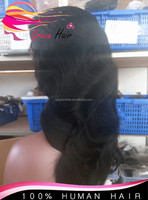 100 percent natural color indian remy vingin thick human hair full lace wig