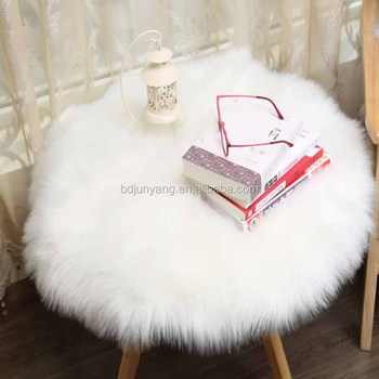 animal plush chair cover synthetic sheepskin area rugs faux fur mat