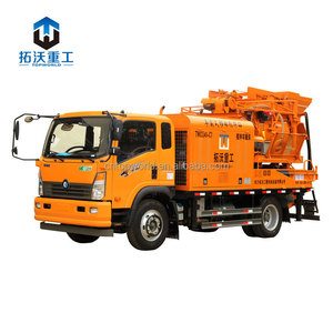manufacturer supply portable concrete mixer pump truck machine price