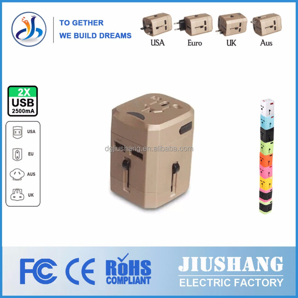 Universal Travel Adapter USB Charger AC Conversion Electrical Plug AU US UK to EU