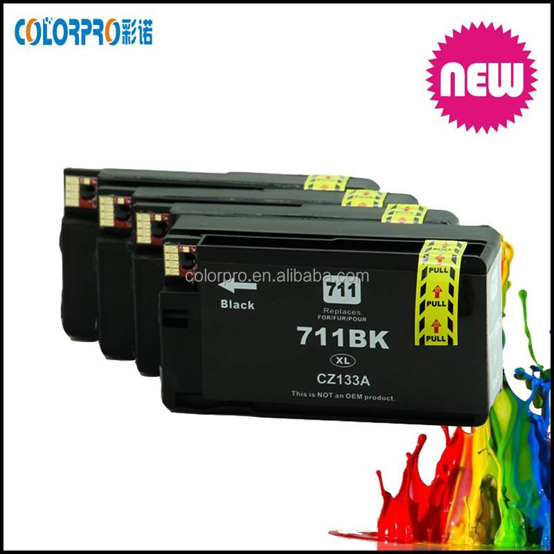 Compatible for hp Designjet T120 24/T120 610/T520 24/T520 36 compatible Ink Cartridges for hp711