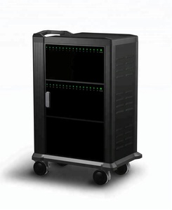 China high quality 32 Charging bays USB charge Sync Tablet /Laptop / Ipad Charging Carts Cabinets with wheels for school,