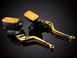 Motorcycle Racing CNC Dual Hydraulic Clutch Brake Master Cylinder Reservoir Racing Logo Levers Kit Gold Fit For TRIUMPH Daytona 955i 1997-2003