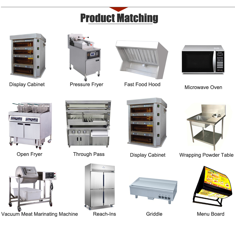 K534 Commercial Oil Filter System Fast Food Restaurant Roasted Chicken Gas Pressure Fryer Machine