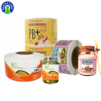 Custom Private Printing Roll Packaging Labels For Glass Candle Jar Plastic Bottle Labels