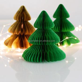 christmas tree shaped tissue paper honeycomb ball for home decoration - Christmas Tree Shaped Tissue Paper Honeycomb Ball For Home