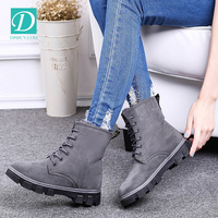 Ladies Boots Snow Warm Winter Boots Women Lace Up Ankle Boots
