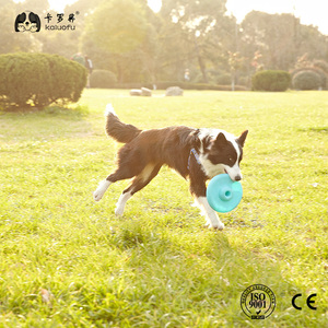 Dog Frisbee Pets Fly Toy Soft Flying Discs Durable Interactive Flyer for Medium Large Dogs