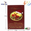 High Quality Christmas Music Sound Greeting Card With Led
