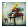 Home Decoration Items Musical Instrument Piano Painting decoration wall home Oil Painting on Canvas