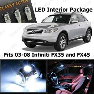 Classy Autos Infiniti FX35 and FX45 White Interior LED Package (13 Pieces) by Classy Autos