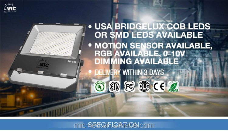 High Power Bridgelux Chips Brand Leds Led Flood Light Tuv Driver
