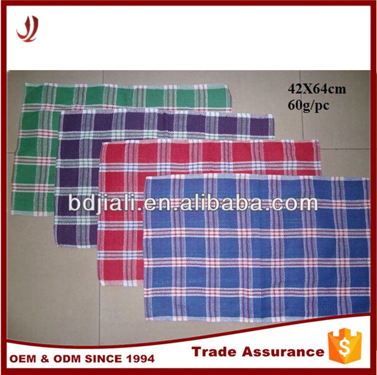2015 popular waffle kitchen towel cheap bulk stripe linen tea towels