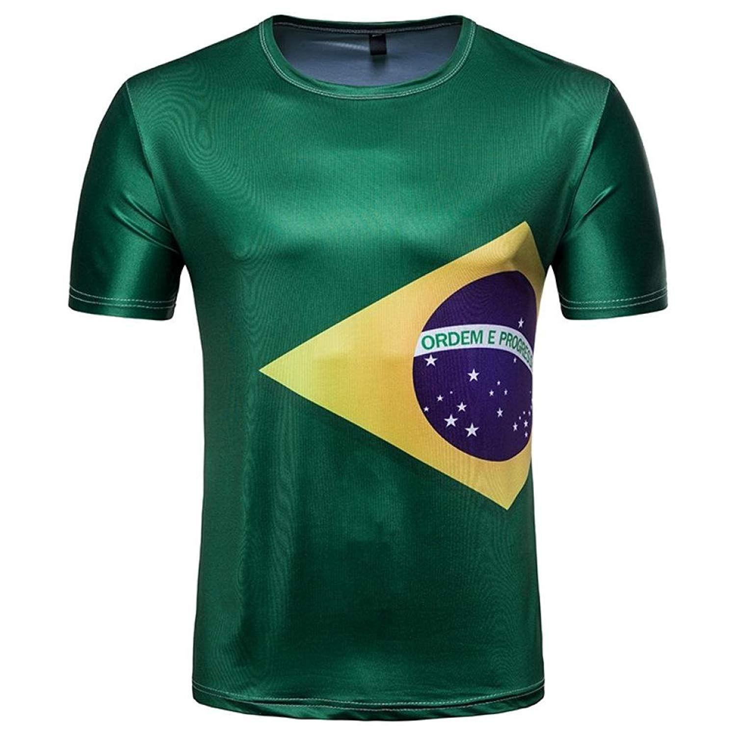 PeiZe World Cup Men Tops T-Shirts 2018, Mens Football 3D Short Sleeve Summer Tee Top Blouse
