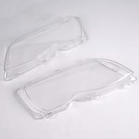 A Pair of Helix Replacement Clear Plastic Headlight Lens For BMW E46 (02-05 sedan) 4D