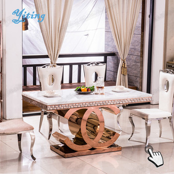 Unique Malaysia Chrome Onyx Center Quartz Dining Living Room Furniture Table  Parts Sets For 4 Legs